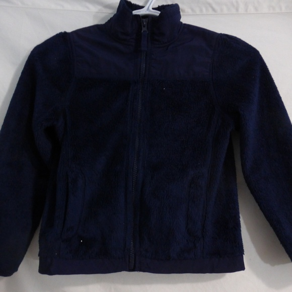 Children's Place navy blue fleece jacket size 5-6